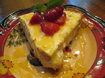 Lemon Balm Cheese Cake