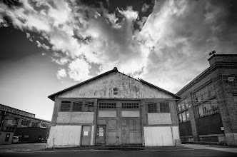 Photo: The Island Mare Island, CA. 2012.  As the sun went down we made our way to the end of the island, passing row after row of old out-of-use buildings.  #monochromemonday