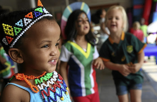 Zibusiso Nguse and fellow preschoolers at Jacaranda Pre-Primary School in Pietermaritzburg celebrating Heritage Day last year. The day signifies our pride in our different cultures.
