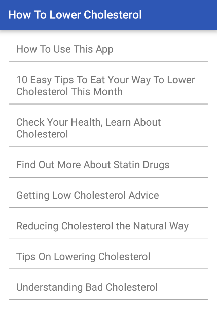 How To Lower Cholesterol- screenshot