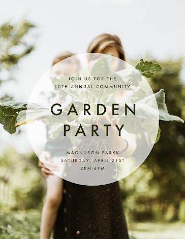 Community Garden Party - Flyer Template