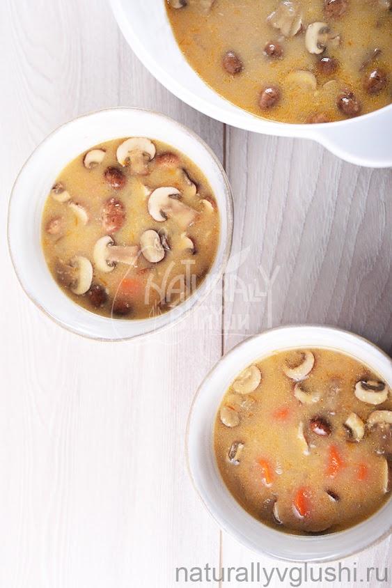 Суп с амарантом и грибами рецепт | Блог Naturally в глуши