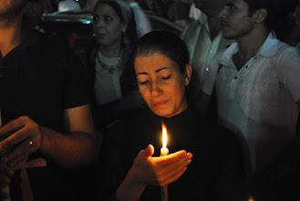 Photo: Condolences to Mina Daniel's sister, who lost her brother during the Maspero massacre a few days prior.