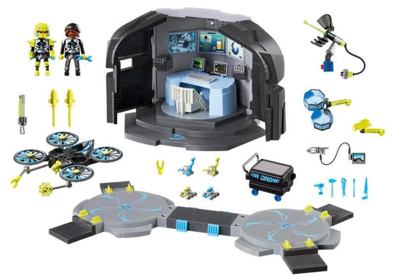 Contenido Real de Playmobil® 9250 Centro de Mando del Dr. Drone