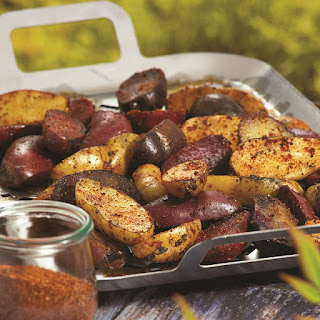 Grilled Fingerling Potatoes with Savory Spud Rub