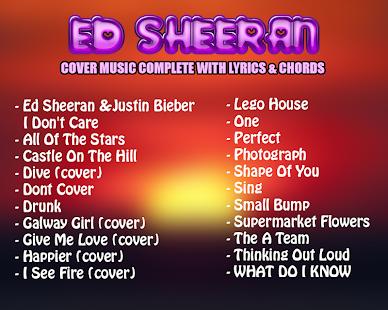 Song Ed Sheeran Lyrics Chord Cover Apps Bei Google Play