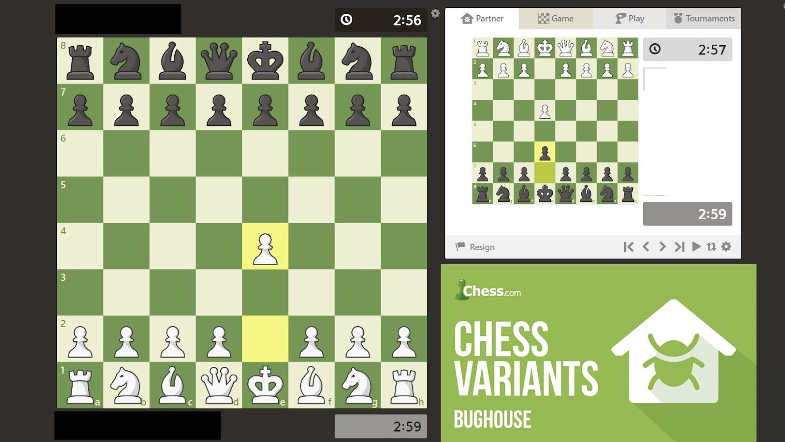 Bughouse Chess Variant