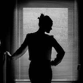 Silhouette by Mark Hewetson - Nudes & Boudoir Boudoir ( window, black and white, behind, back, silhoutte )