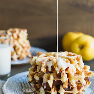 Apple Stuffed Belgian Waffles