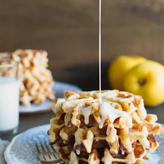 Apple Stuffed Belgian Waffles.