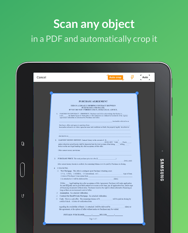 ScanToFill: Document Scanner - Scan PDF file fast – (Android