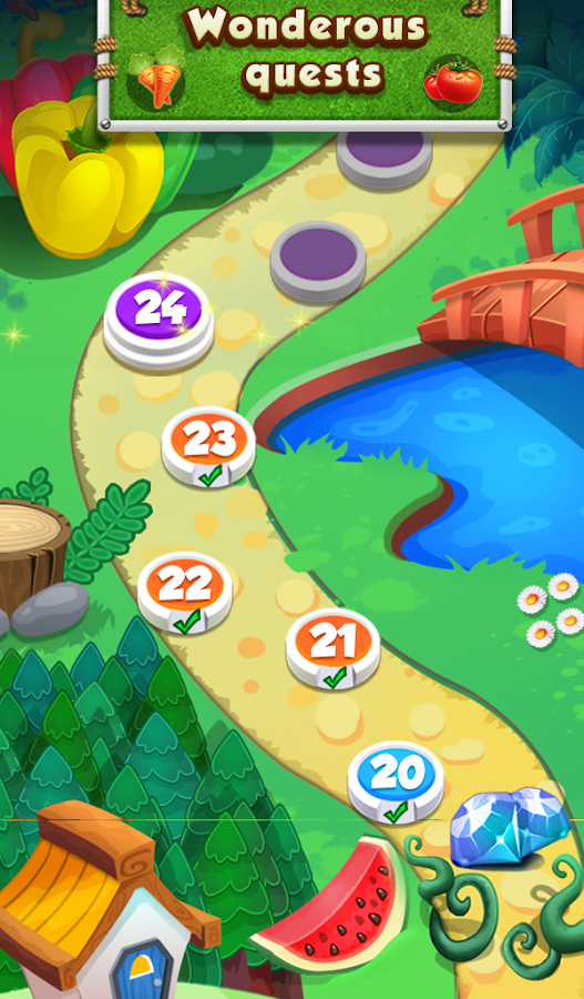 Farm Flowers Coin Party Dozer- screenshot