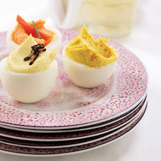 A Trio of Deviled Eggs.