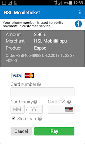 HSL Mobile ticket- screenshot thumbnail