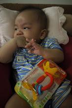 Photo: 睿睿的貝親黃色小花,寶寶界必玩的東西