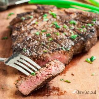 Garlic Marinated Ribeye Steaks.