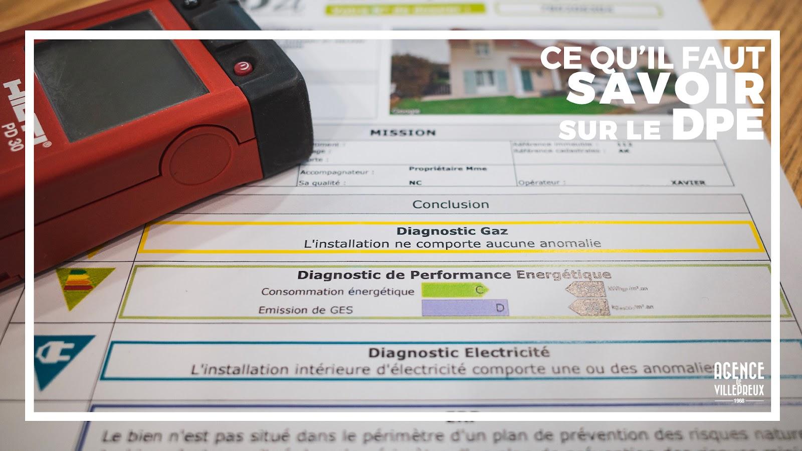 Diagnostic Performance Energétique a savoir pour vendre ou louer