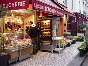 Photo: Now on the Rue Montorgueil, another popular market street.