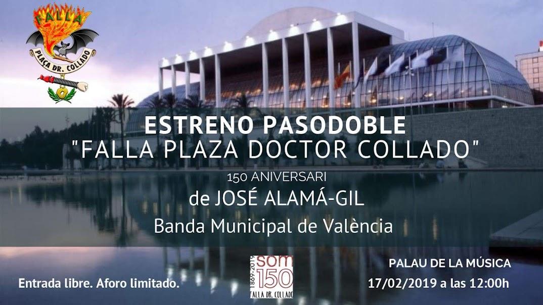 17/2 - Presentación del pasodoble 'Falla Plaza Doctor Collado'