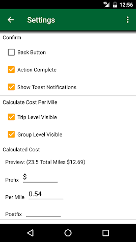 Track My Mileage and Time Screenshot