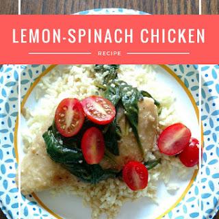Lemon-Spinach Chicken.