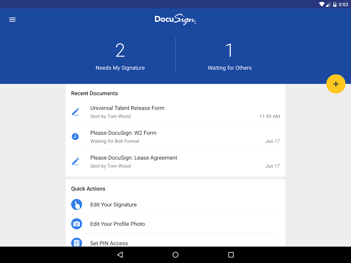 DocuSign - Upload & Sign Docs- screenshot