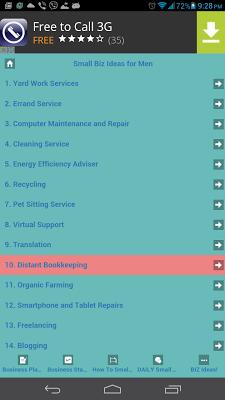 Small Business Ideas - screenshot