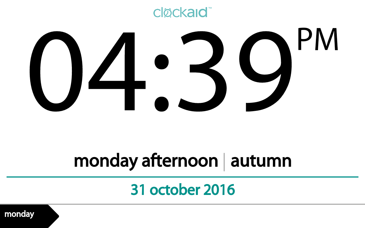 Clockaid- screenshot