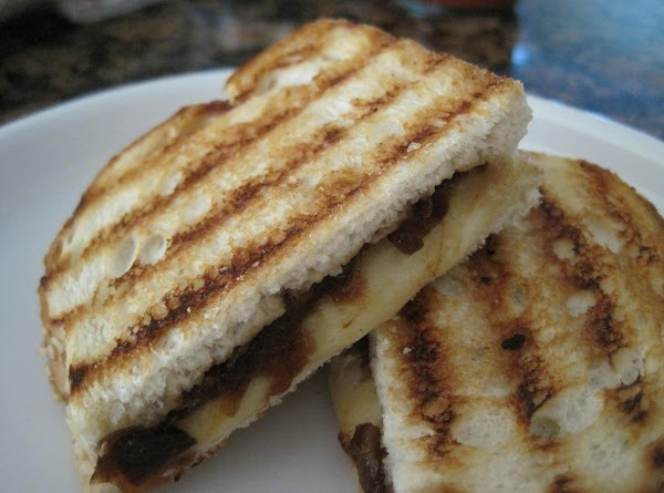 When the cheese is oozy and hot, your sandwiches are done. Slice, enjoy, and...