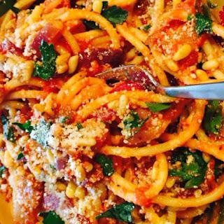 Bacon Marinara and Pasta