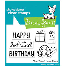 Lawn Fawn Clear Stamps 3X2 - Year 2