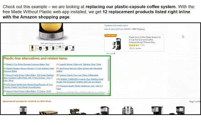Made Without Plastic Product Finder