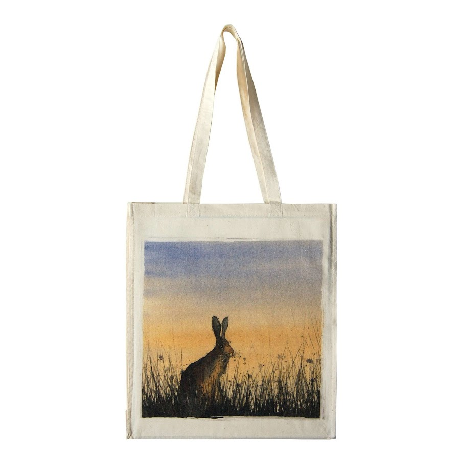 Hare rabbit bunny bag tote shopper