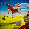 Flying Cow 3d - Wild Cow Animal Simulator icon