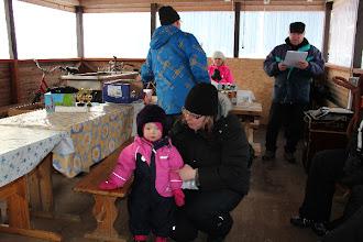 Photo: Lasten pulkkakisan voittaja: Kike Holm