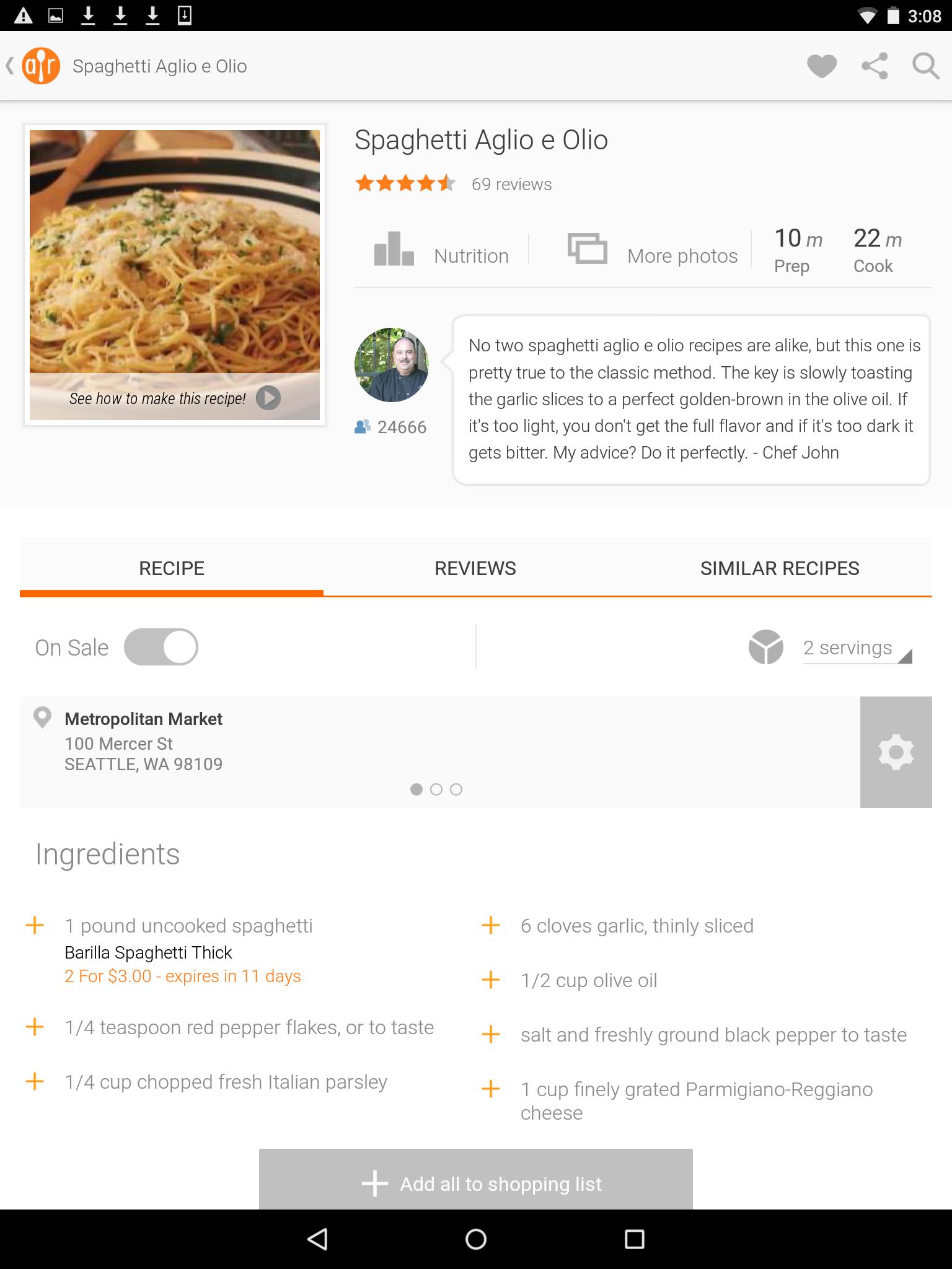 Allrecipes Dinner Spinner screenshot #12
