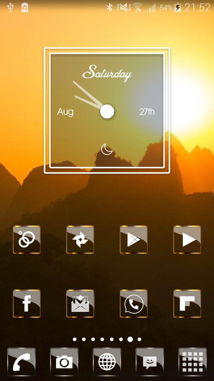 Golden Glass Nova Launcher theme Icon Pack Screenshot 5