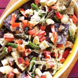 Portobello, Asparagus & Lobster Nachos