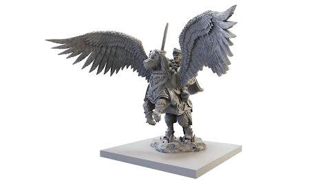 Halfling General on Winged Aralez