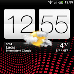 Deep Red - Sense 4+ HD Skin Icon