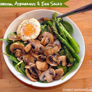 Mushroom, Asparagus & Egg Salad.