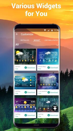Transparent Weather Widget Raining  screenshots 6