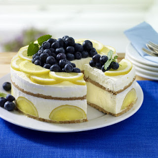 Frozen Lemon Ice Cream Cake.