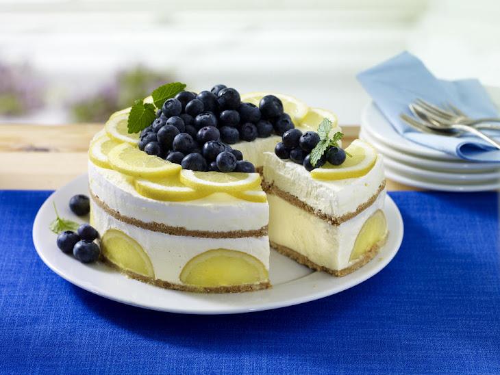 Frozen Lemon Ice Cream Cake