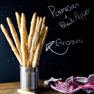 Parmesan and Black Pepper Grissini