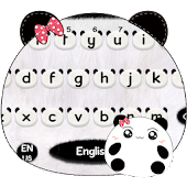 Cute Panda Keyboard Theme