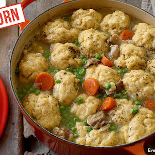 Chicken And Dumplings With Einkorn Biscuits.