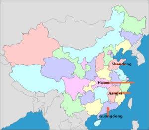 Китайские промышленные кластеры по производству алюминиевой экструзии