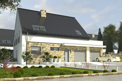 projekt Bernikla II z garażem 2-st. A1