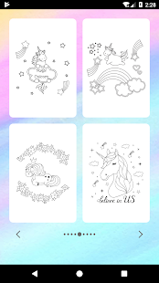 Unicorn Coloring Book Screenshot